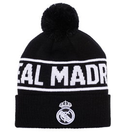 Real Madrid Black Pom Beanie