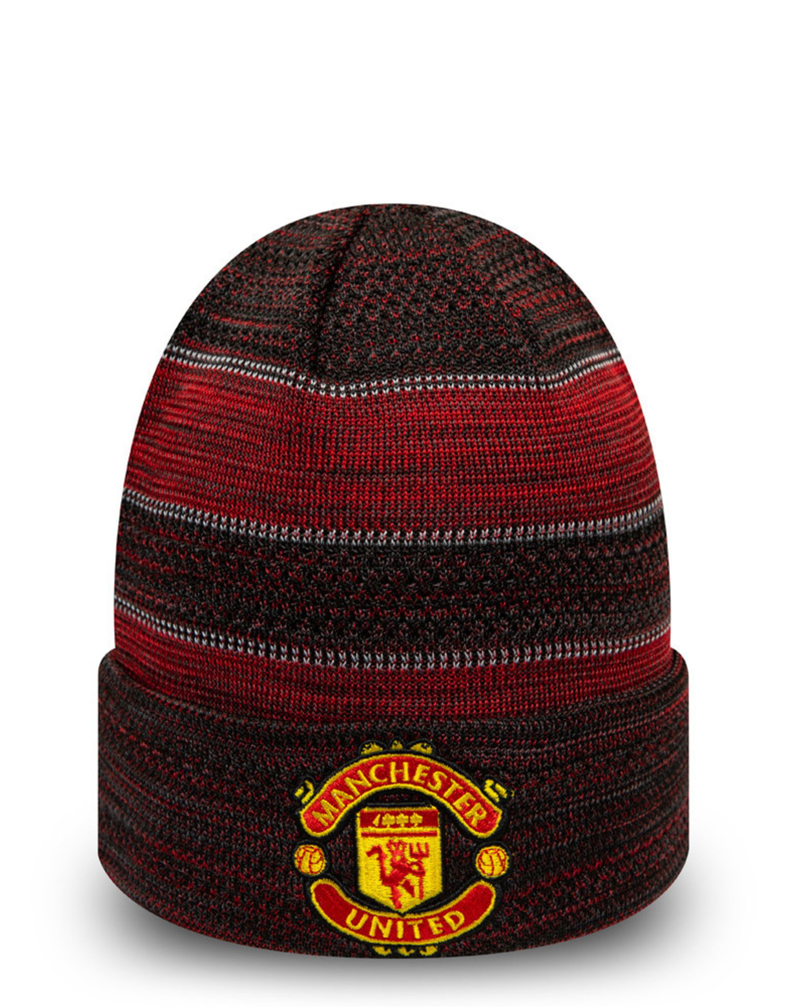 Manchester United Red & Black New Era Knit Beanie
