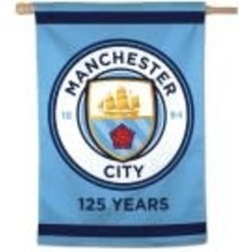 Manchester City FC 125th Season Vertical Flag