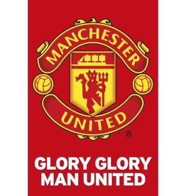 Manchester United Glory Team Crest Poster