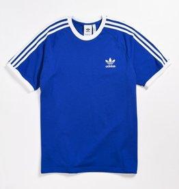 Adidas Adidas Three Stripe Tee  Royal Blue/White Adult Xlarge