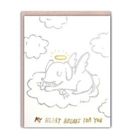 Ghost Academy Angel Pup Sympathy Card