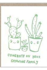 Ghost Academy Ghost Academy | Cactus Family Baby Card