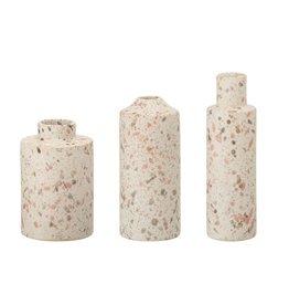 Creative Co-Op Blush Stoneware Terrazzo Bud Vase
