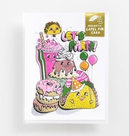 Yellow Owl Workshop Yellow Owl Workshop | Let's Party Card + Taco Enamel Pin