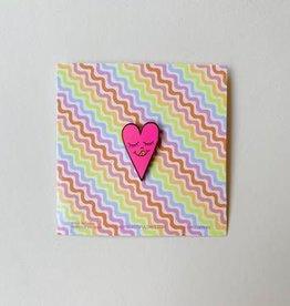 Beautiful Days Beautiful Days | Neon Pink Heart Pin