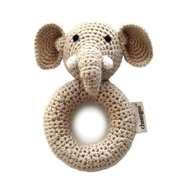 Cheengoo Elephant Crochet Ring Rattle
