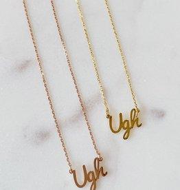Ugh Nameplate Necklace