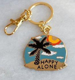 Stay Home Club Happy Alone Keychain