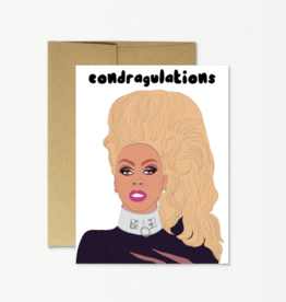 Party Mountain Paper Co Rupaul Condragulations Card