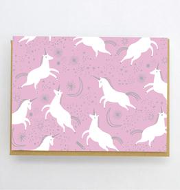 Hello! Lucky Tiny Unicorn Card (6 Boxed)