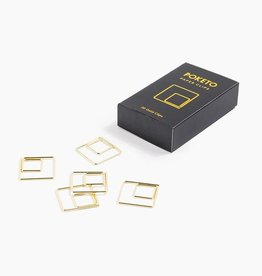 Poketo Poketo | Gold Square Paper Clips