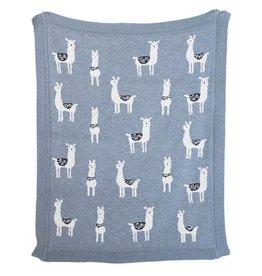 Llama Knit Baby Blanket
