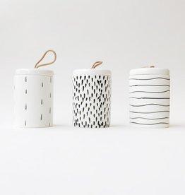 Sketched Ceramic Storage Jar