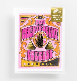 Yellow Owl Workshop Yellow Owl Workshop | Birthday Goddess Card + Enamel Pin