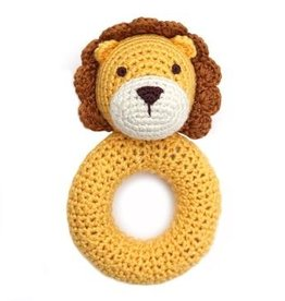 Cheengoo Cheengoo | Lion Ring Hand Crocheted Rattle