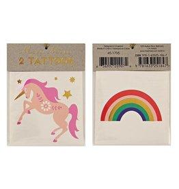 Meri Meri Meri Meri | Rainbow Unicorn Tattoos