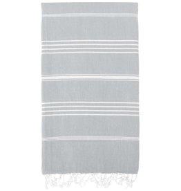 Turkish Linen Towels Turkish Beach Towel | Gray