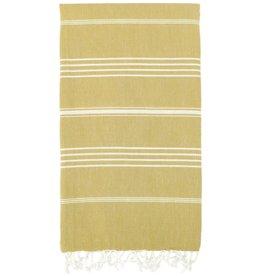 Turkish Linen Towels Turkish Beach Towel | Mustard