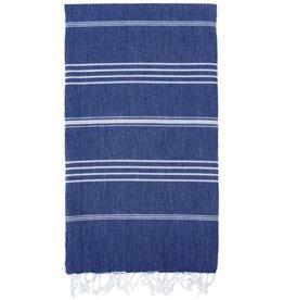 Turkish Linen Towels Turkish Beach Towel | Navy