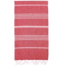 Turkish Linen Towels Turkish Beach Towel | Red