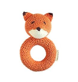 Cheengoo Fox Crochet Ring Rattle