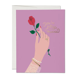 Red Cap Red Cap | Engagement Rose Card