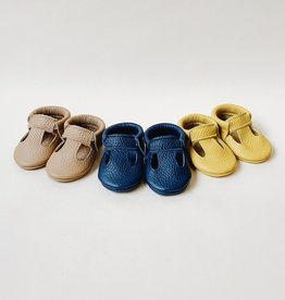 Little Bees Little Bees | Leather T-Strap Baby Booties