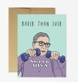 """Party Mountain Paper Co Party Mountain Paper   RBG """"Bader Than Ever"""" Card"""