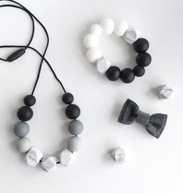 Grace & Parker Grace & Parker | Marble Gray Ombre Teething Necklace