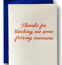 Ladyfingers Letterpress Ladyfingers Letterpress | Thanks For The Manners Card