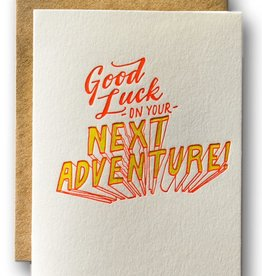 Ladyfingers Letterpress Ladyfingers Letterpress | Good Luck on Your Next Adventure Card