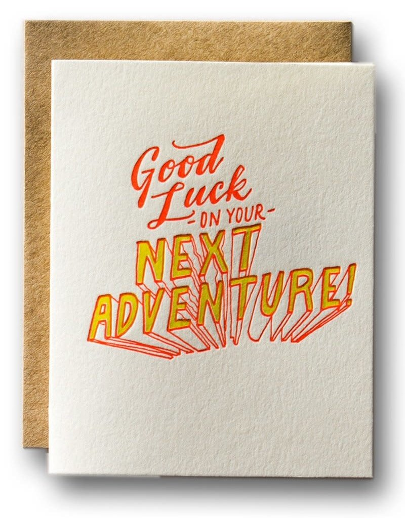 Ladyfingers Letterpress Ladyfingers Letterpress   Good Luck on Your Next Adventure Card