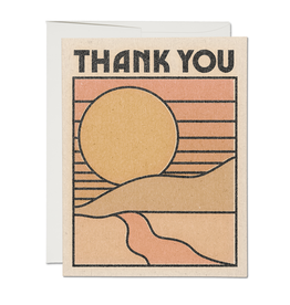 Red Cap Red Cap | Thank You Sun Card