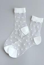 Stay Forever Sheer Polka Dot Socks