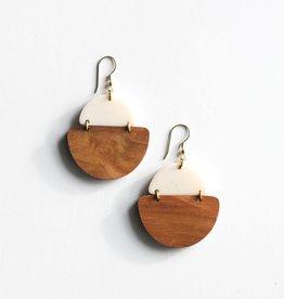 Rover & Kin Rover & Kin |Mod Wood Earrings