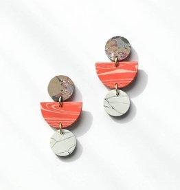 Rover & Kin Rover & Kin | Geo Clay Earrings in Peach