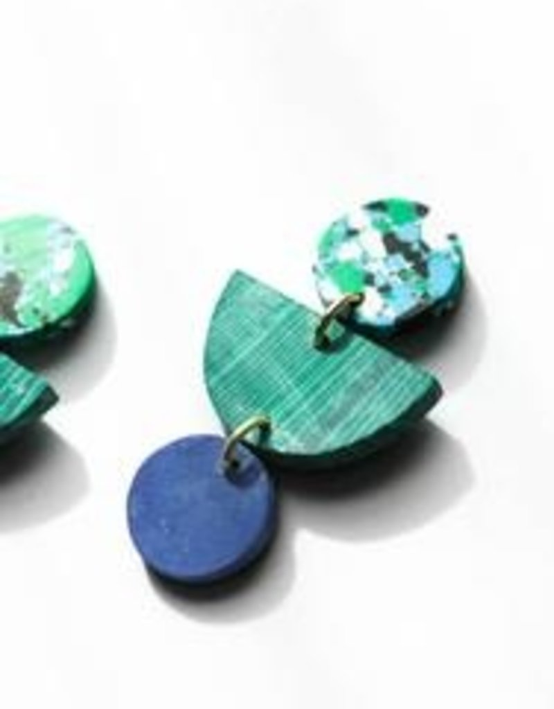 Rover & Kin Rover & Kin   Geo Clay Earrings in Rainforest
