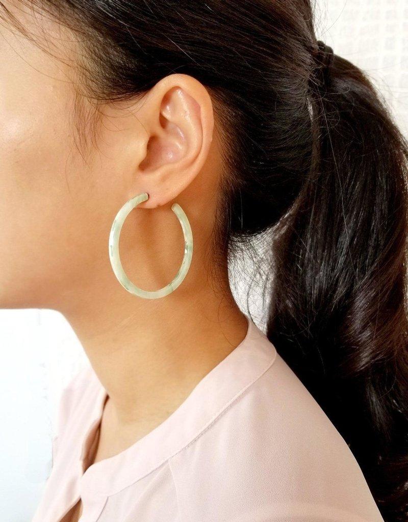Dear Soho Dear Soho   Sophia Green Marbled Hoop Earrings