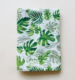 Palm Leaves Cotton Swaddle Blanket