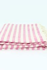 Turkish Beach Towel | Stripe Fuchsia
