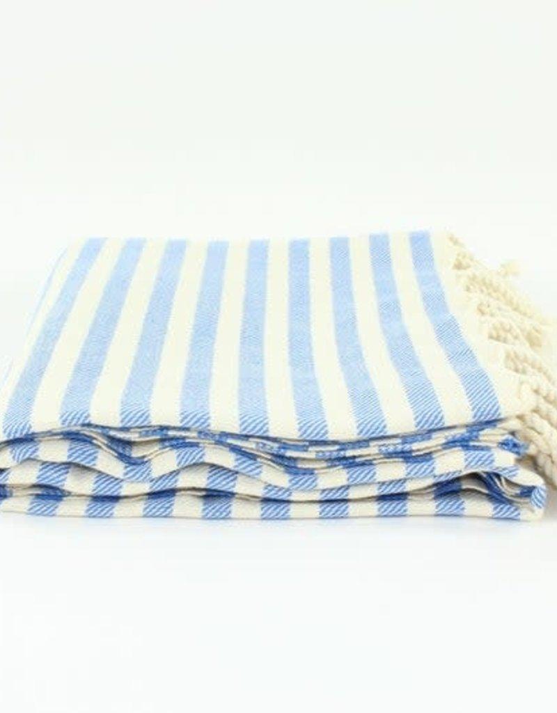 Turkish Beach Towel | Stripe Blue