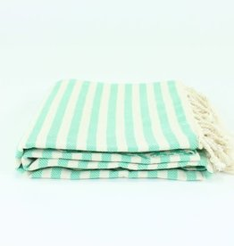 Turkish Beach Towel | Stripe Green