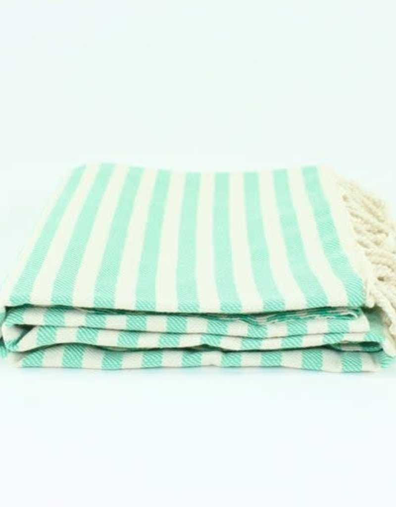 Turkish Beach Towel | Stripe Green
