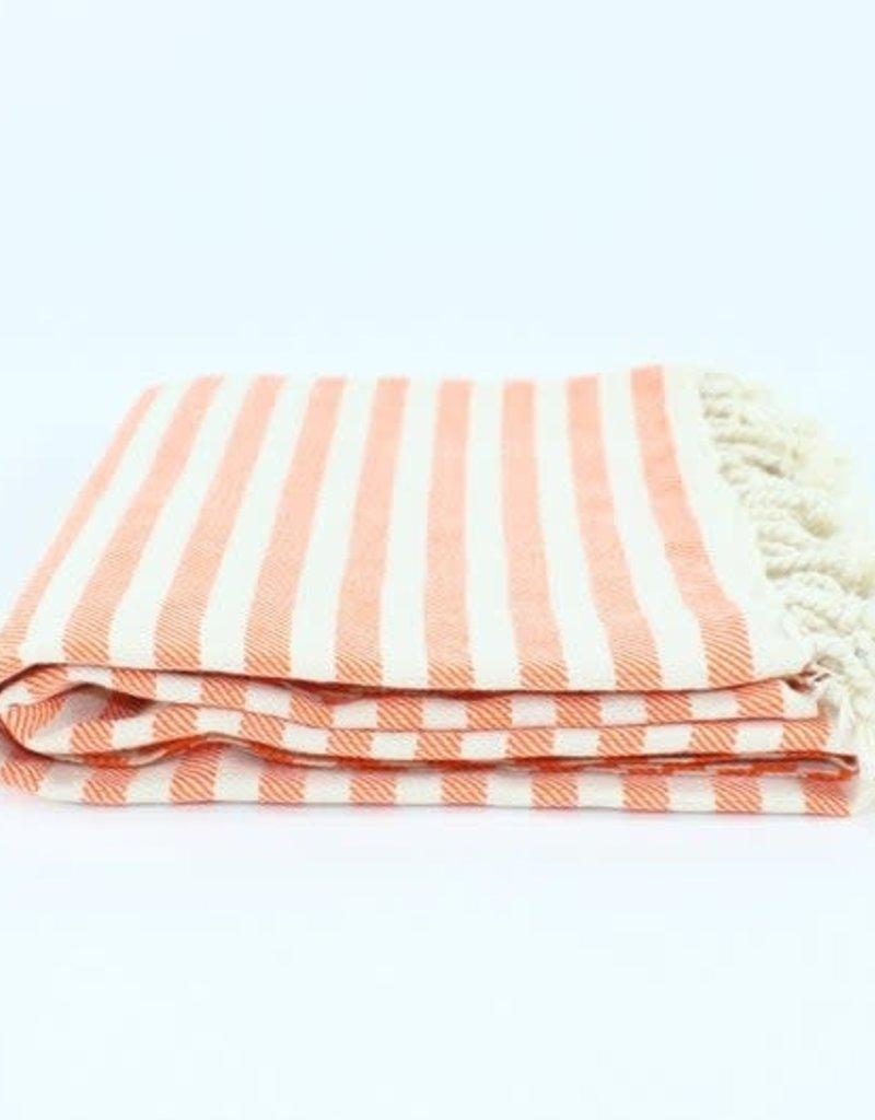 Turkish Beach Towel | Stripe Orange