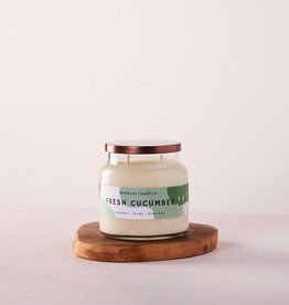The Rockaway Candle Co. Double Wick Candle Fresh Cucumber