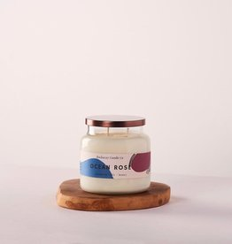 The Rockaway Candle Co. Double Wick Candle Ocean Rose