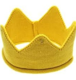Yellow Knit Birthday Crown