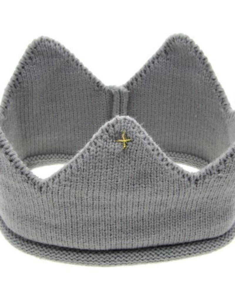 Gray Knit Birthday Crown