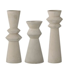 Bloomingville Cement Taper Candle Holder - Assorted